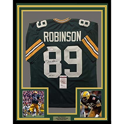 Dave Robinson (Green Bay Packers) Autographed Jersey - FRAMED 33x42 ... 883ad3c33