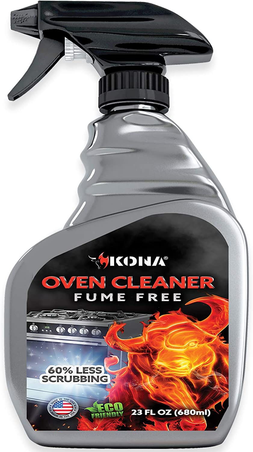 Kona Safe/Clean Oven Cleaner - Heavy Duty, Fume Free, No-Drip Formula - Non Toxic, 60% Less Scrubbing - Eco-Friendly, Food Safe Kitchen Degreaser, Biodegradable - 23oz