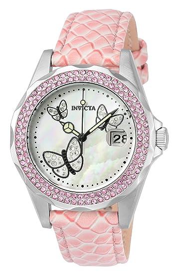 Invicta 23548 Angel Reloj para Mujer acero inoxidable Cuarzo Esfera blanco: Amazon.es: Relojes