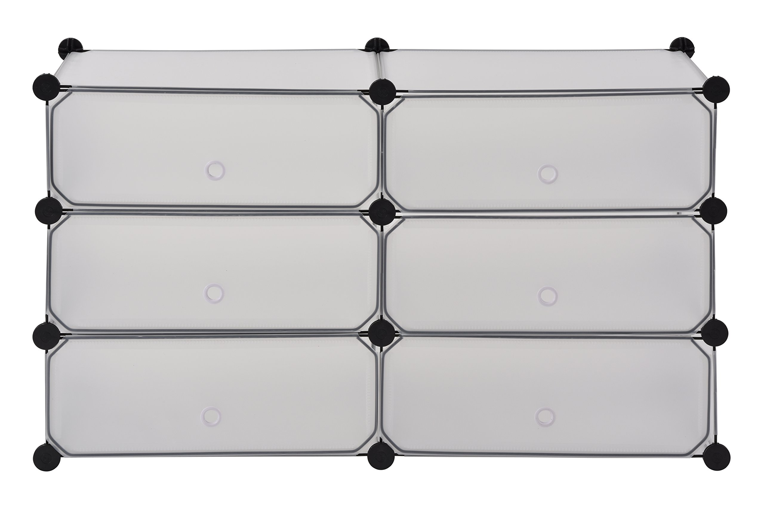 Muscle Rack PMCD-6CL Modular Cube Storage With Doors