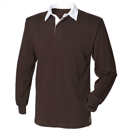 Camisa de manga larga de la primera fila original de Rugby - Burgundy - M: Amazon.es: Deportes y aire libre