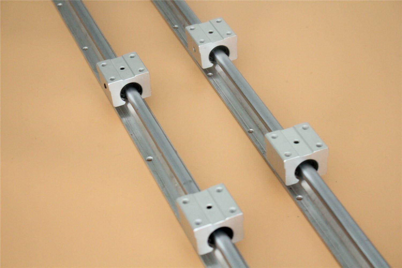 CHUANGNENG 2Pcs SBR20 1200mm Linear Bearing Slide Rail Guide Shaft+4Pcs SBR20UU 20mm Blocks US Stock
