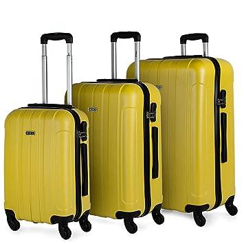 ITACA - Juego Maletas de Viaje Rígidas 4 Ruedas Trolley 55/64/73 cm