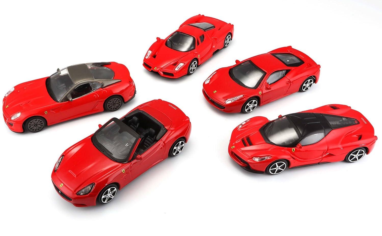 Bburago Maisto France Pack de 5 Ferrari 1//43 BBurago Al/&eacuteatoire,