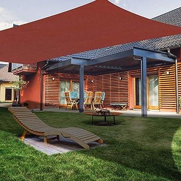 XXJF Vela De Sombra Toldos Exterior Rectangular Protección Rayos UV Toldo Vela PES , Resistente Desgarro Y,protección para Jardín Patio Piscinas Exteriores Jardín: Amazon.es: Hogar