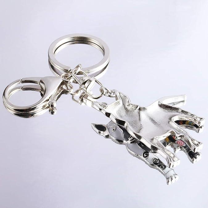 Amazon.com: Luckeyui Llavero único Bull Terrier regalo para ...