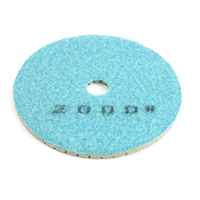 Uxcell Dia 5mm Thickness 2000 Grit Diamond Polishing Grinding Pad, 10cm, Blue: Home Improvement