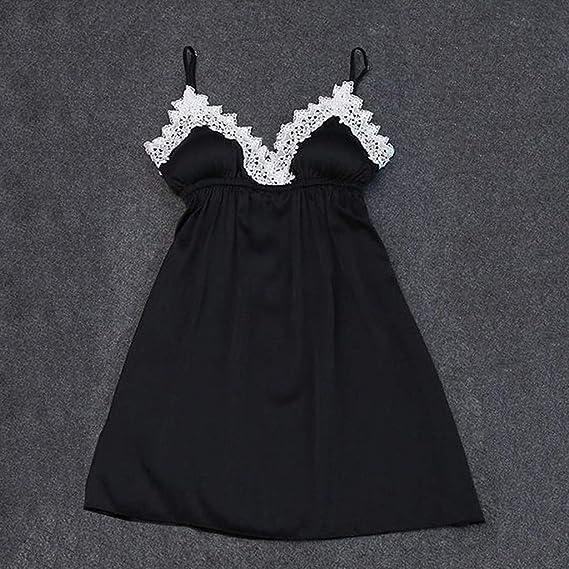 Hot New Sexy New Girl Lingerie Women Silk Lace Robe Satin Nightdress Sleepwear Pajamas at Amazon Womens Clothing store:
