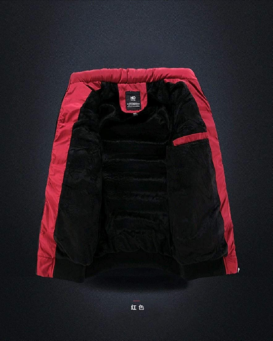 Comaba Men Winter Thick Stand Collar Windproof Plus Size Down Jacket