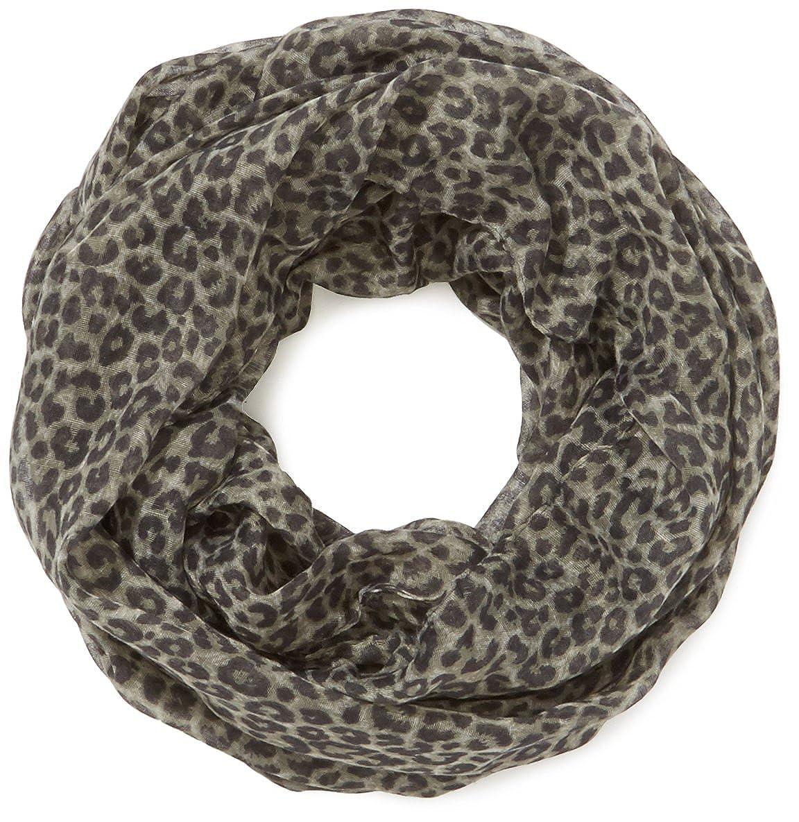 TOM TAILOR Damen Tuch leopard print tube/407 Einfarbig Gr. One size Beige (cashew beige 8229) 02181130970