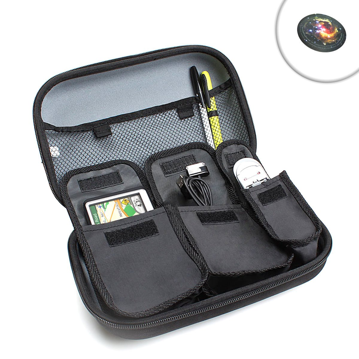USA Gear Hard Carrying Case for 5-Inch GPS Works with Select Magellan GPS Navigators Maestro, Roadmate, Explorist & Crossover Models & Accessories