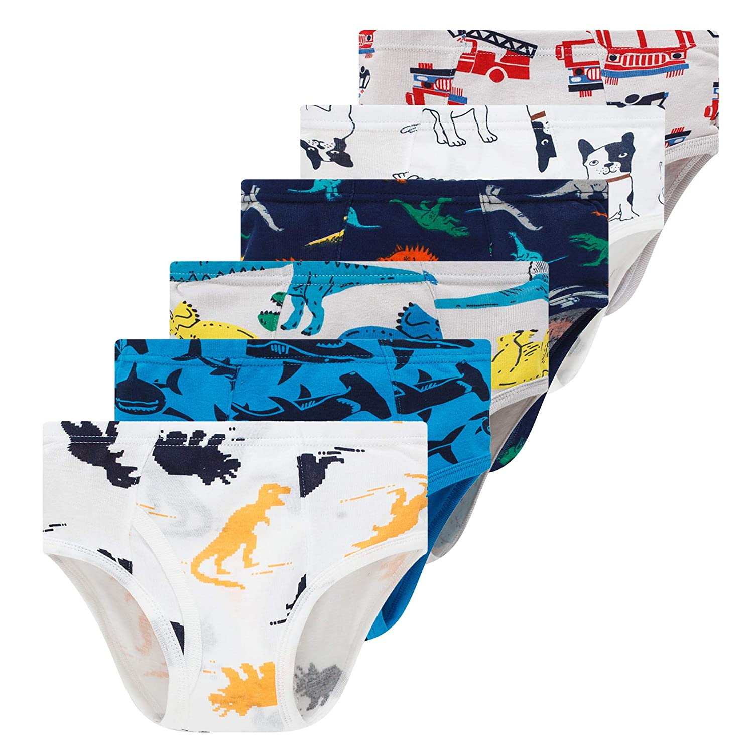 Winging Day Little Boys Cotton Brief Soft Underwear Multipack
