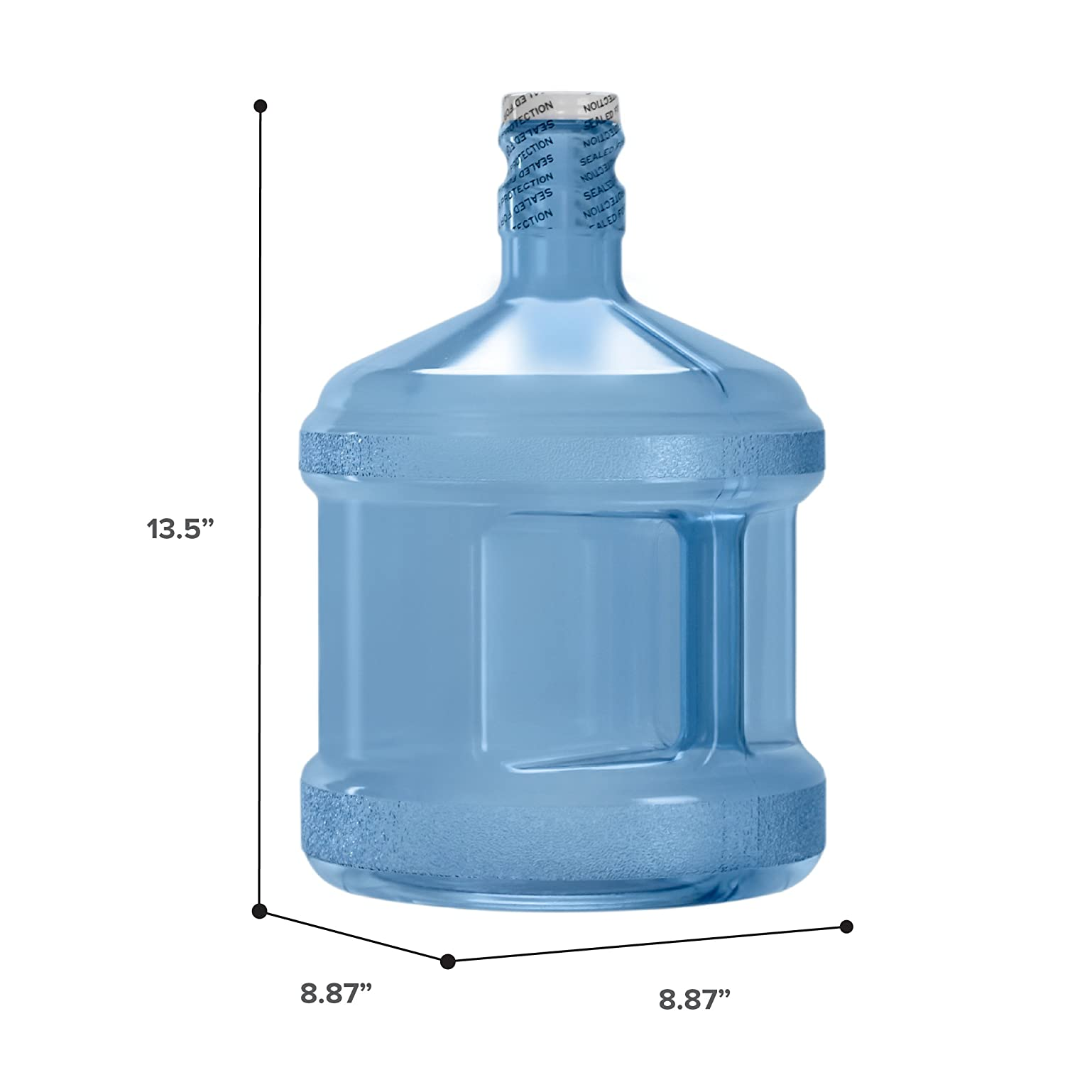 BPA-Free Reusable Plastic Water Bottle Gallon Jug Container - Made in USA