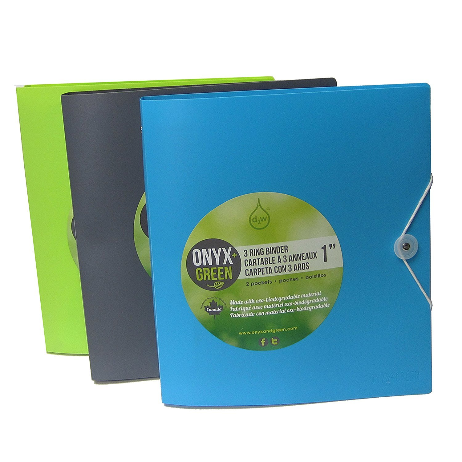 Recycled Sustainable Materials Green Eco Friendly School Office Supplies Kit - Binder and Presentation Folder Set by Onyx and Blue (Image #4)