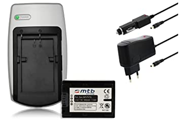 Batería + Cargador NP-FV70 para Sony DCR, HDR, NEX - ver la descripción