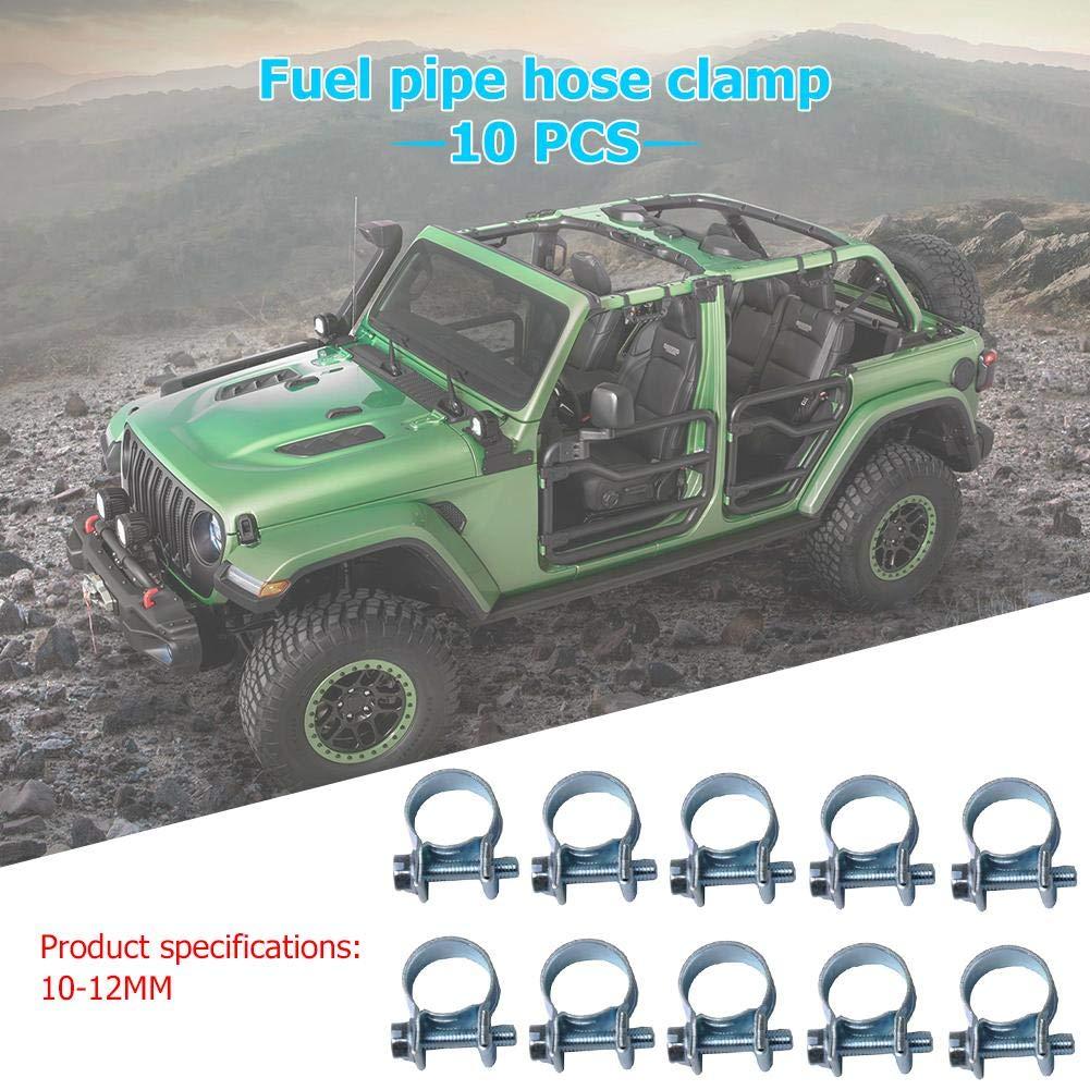 Broadroot 10 abrazaderas para tubos mini kit de surtido de tubos de inyecci/ón de combustible para el tubo de gasolina di/ésel 11-13MM