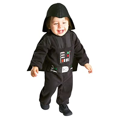 Rubies Toddler Boys Star Wars Darth Vader Jumpsuit Costume (2T-3T): Clothing