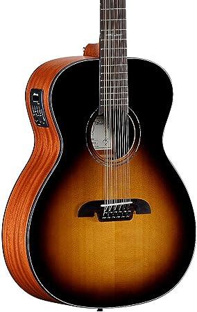 Alvarez af610esb 12-string Folk Electroacústica guitarra,: Amazon ...