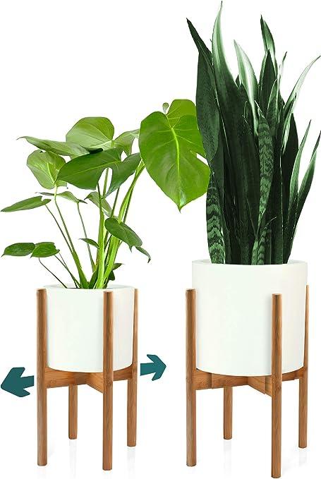 Amazon Com Fox Fern Mid Century Plant Stand Bamboo