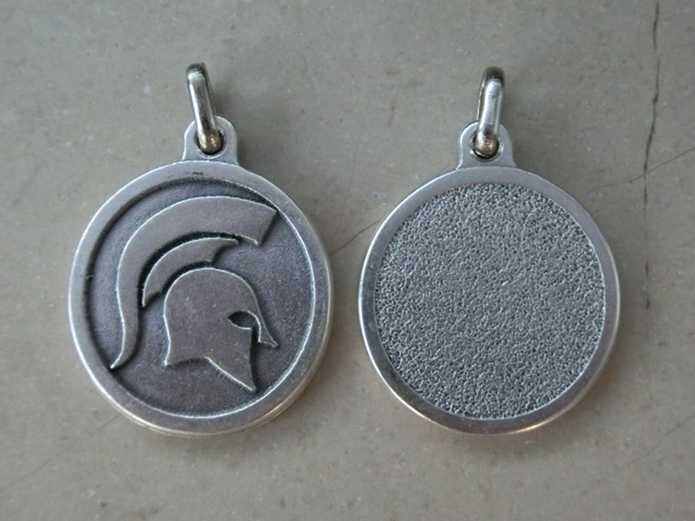 Roma Medaille Anhänger Elmo römischer Krieger Sparta Spartaner GTBITALY