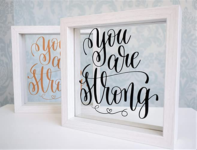 You Are Strong. Positive Inspirational Floating Glass Frame ...