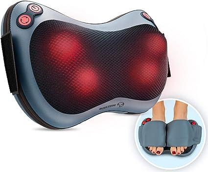 Relaxxnow Massagekissen mit Wärmefunktion und rotierenden Massageköpfen