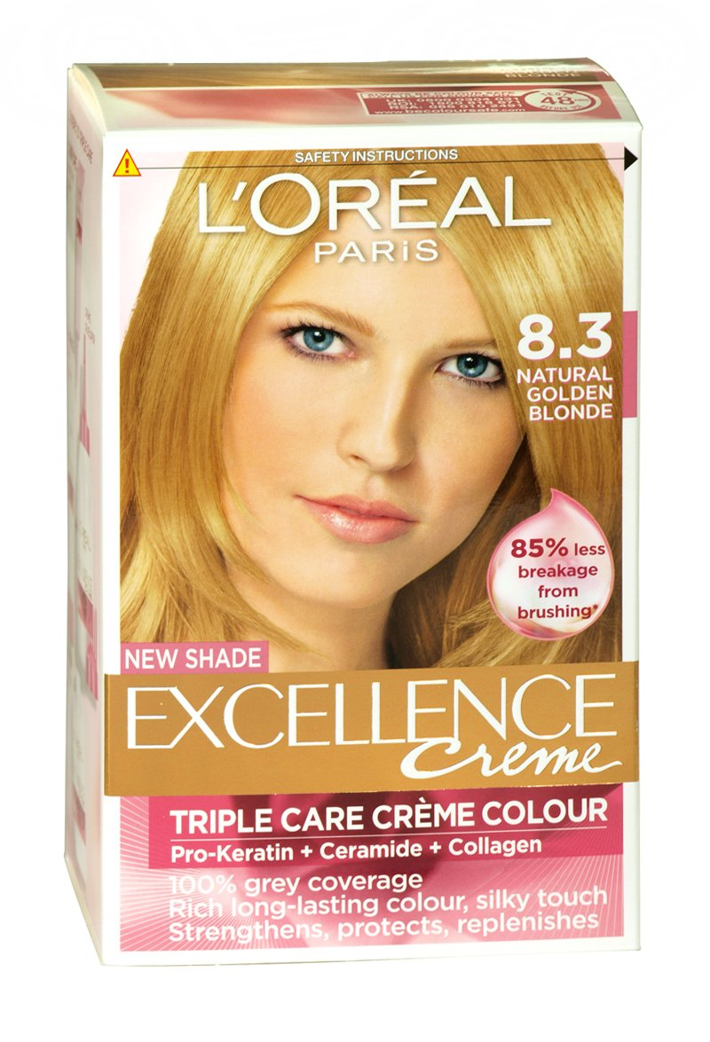 Loreal Excellence Crme Permanent Hair Colour 83 Nat Gold Blonde