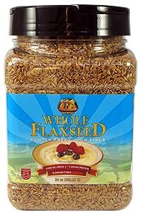 Premium Gold Whole Flax Seed | High Fiber Food | Omega 3 | 26oz