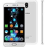 Telefonos 4g Baratos,9Pcs 5.5 Pulgadas 8GB ROM Doble Sim 5MP Cámara 2800mAh Batería Android 7,0 Smartphone Telefono Movil Libres Baratos 1.3GHz Quad CoreWIFI GPS Bluetooth V Mobile J5 (1-Blanco)