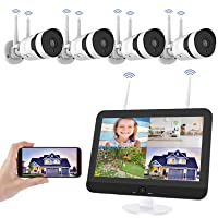 Deals on HJSHI 1080p 4-Camera Wireless Security Camera System