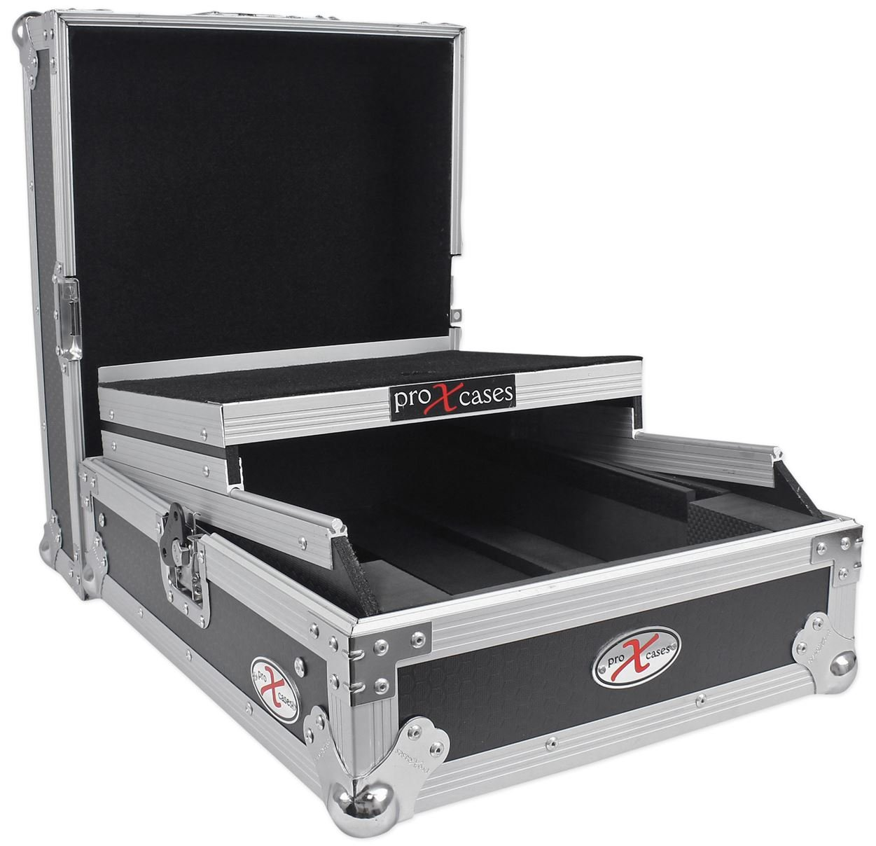 ProX XS-M12LT Universal 12 DJ Mixer ATA300 Flight Hard Case With Laptop Shelf TOV