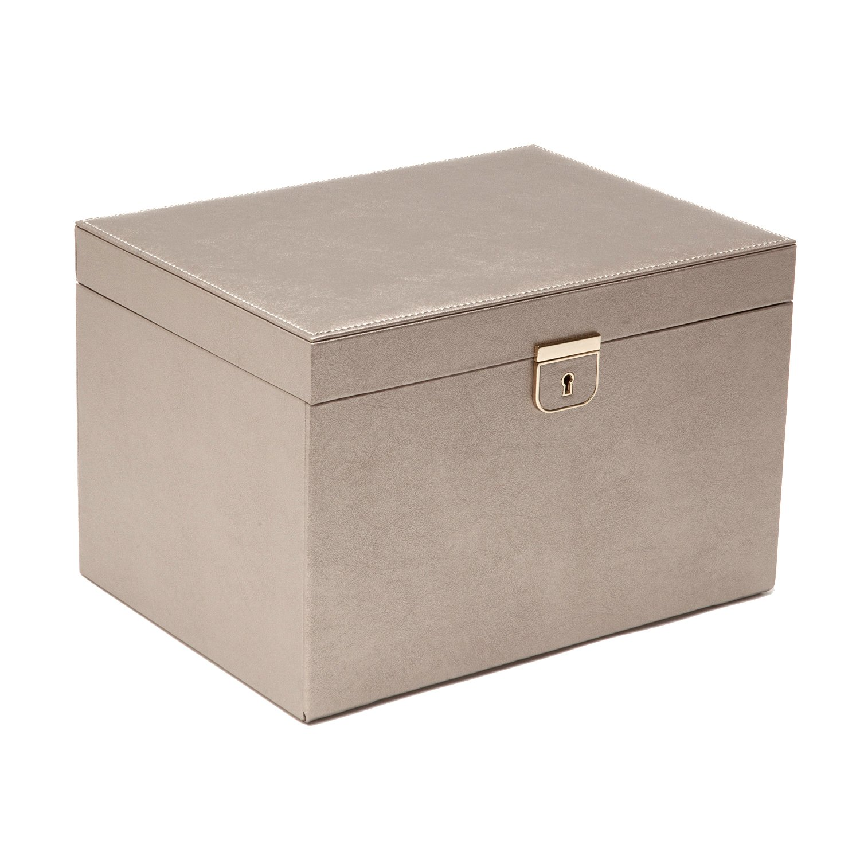 WOLF Palermo Large Jewelry Box, 8.5x11.5x7.5, Pewter