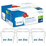 Aqua Optima Evolve 6 month pack, 6 x 30 day water filters - Fit *BRITA Maxtra (not *Maxtra+) appliances - EVS602