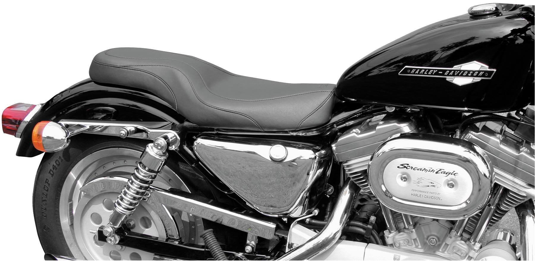 Mustang Daytripper Seat for 1996-2003 Harley Davidson Sportster