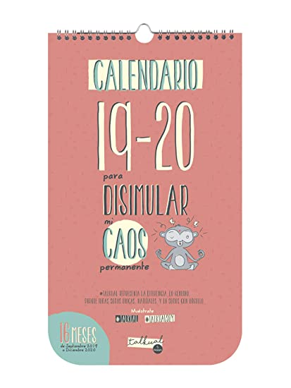 Finocam - Calendario de pared Talkual 2019-2020 Caos español