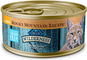 Blue Buffalo Wilderness Rocky Mountain Recipe High Protein Grain Free, Natural Adult Flaked Wet Cat Food