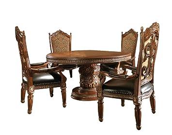 Fantastic Amazon Com Aico Villa Valencia Casual Dining Room Set With Andrewgaddart Wooden Chair Designs For Living Room Andrewgaddartcom