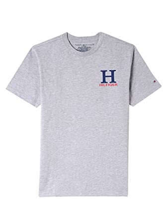 68fa9a1d Tommy Hilfiger Boys' Big Short Sleeve Solid Crew-Neck T-Shirt, Matt