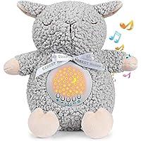 BEREST Baby Sleep Soother Sleepy Sheep, Mom's Heartbeat Lullabies & Shusher Baby Sound Machine, Nursery Decor Night…