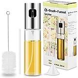 Magicfun Olio Spruzzatore, Nebulizzatore Olio Cucina in Vetro Portable Olive Oil Sprayer Dispenser per Pasta, Insalata, Padella, Griglia, Barbecue