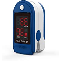 JOYWAY-Blue carbon Fingertip Pulse Oximéter, Multi Purpose Digital Monitoring Pulse Rate and SpO2 with LED Digital…