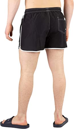 Calvin Klein Hombre Short Swimshorts, Negro
