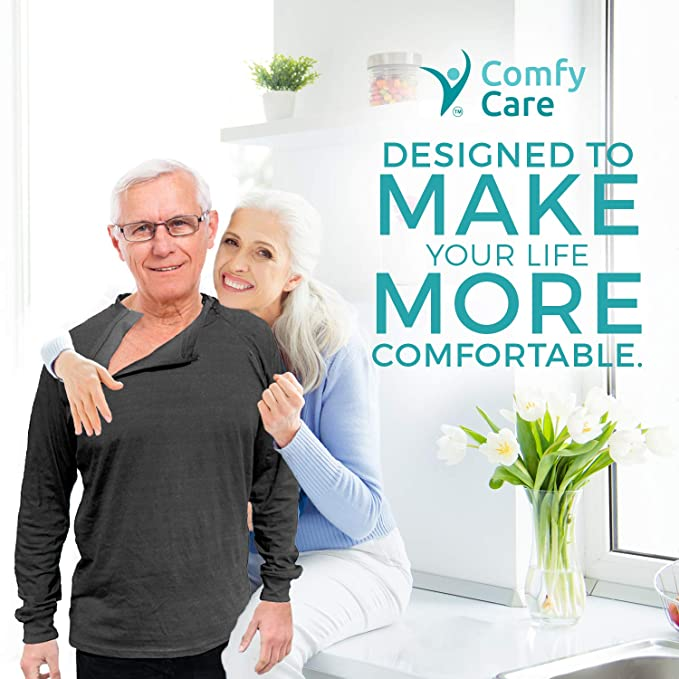 Comfy Care Unisex Chest Port Zipper Chemo Shirts | Gift for Chemotherapy  Cancer Patients
