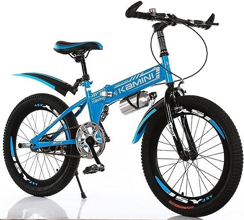 CivilWeaEU- 18/20/22 Pulgadas 6-8-10-12 años de Edad Bicicleta para niños, niños y niñas Bici de Escuela Primaria Plegable de una Sola Velocidad Opcional (Color : Azul, Tamaño : 22 Inches): Amazon.es: Hogar