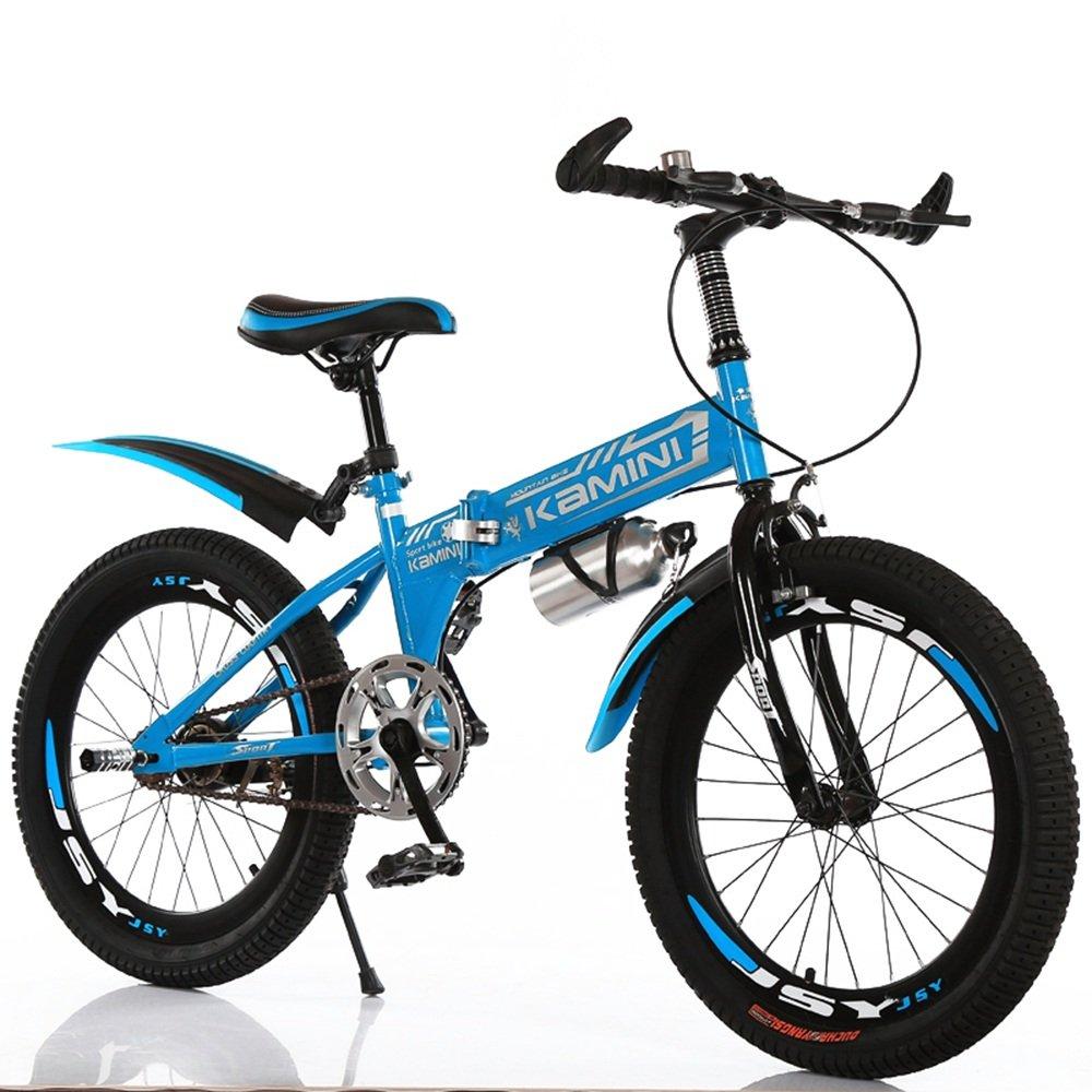 美しい 家18/20/22インチ6-8-10-12歳の子供用自転車、男の子と女の子の折りたたみ式シングルスピード小学校の自転車(多色オプション) (色 : 青, サイズ さいず : 22 inches) B07D1N2ZV2 22 inches|青 青 22 inches