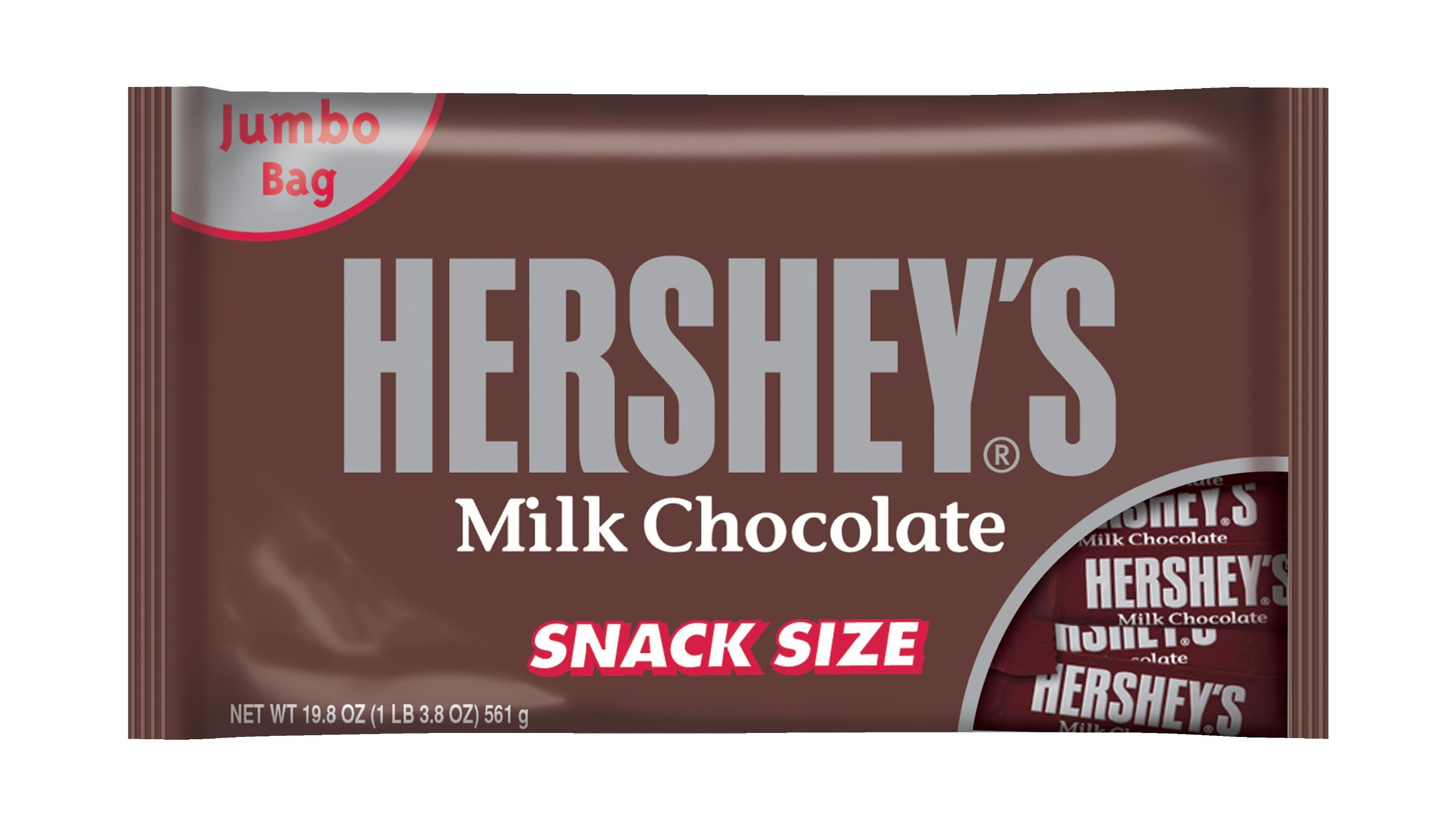 HERSHEY'S Snack Size Chocolate Bar, Milk Chocolate Candy Bar, 19.8 Ounce
