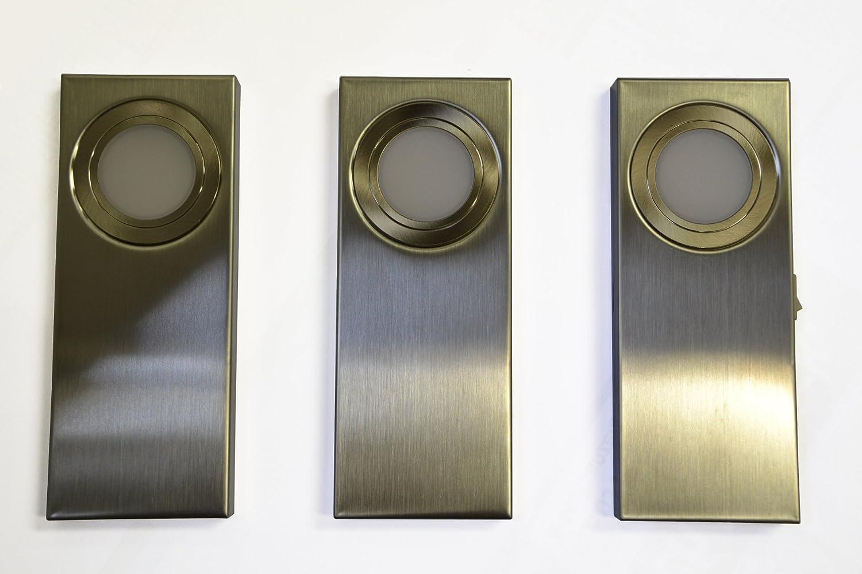 WIPO LED-Unterbauleuchten Lino aus Edelstahl als 3er Set