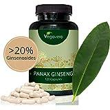Ginseng Rojo Coreano PURO Vegavero® | LA DOSIS MÁS ALTA: 4800 mg | 20% Ginsenósidos | 120 Cápsulas | Energía + Afrodisíaco + Estimulante + Impotencia + Concentración | Apto Para Veganos