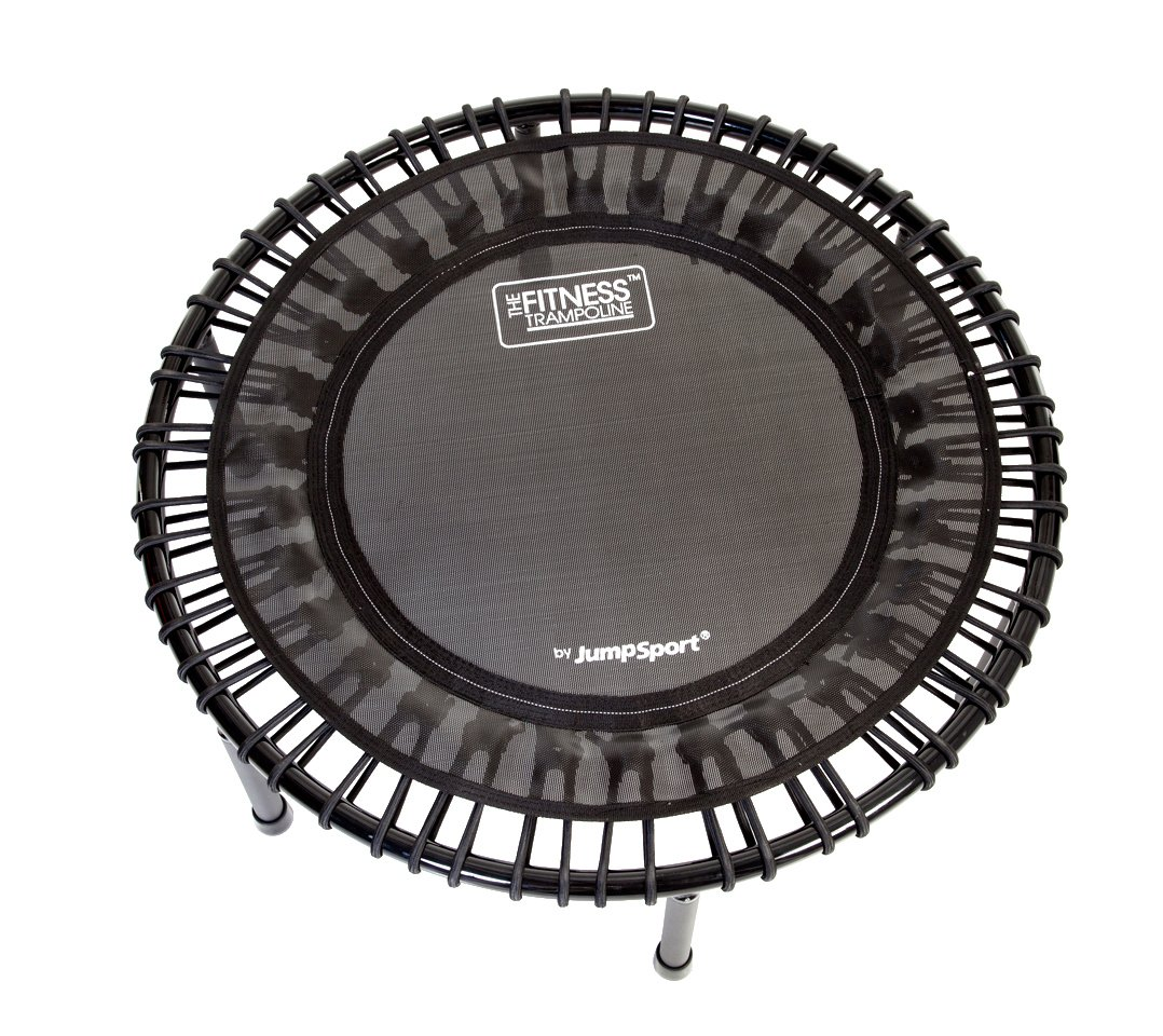 JumpSport 200 | Fitness Trampoline, In-Home Mini Rebounder | Total Body Exercise | Quiet, Safe, Comfortable Bounce | Outstanding Value | Top Rated for Quality & Durability | Music Workout Vid Incl. by JumpSport