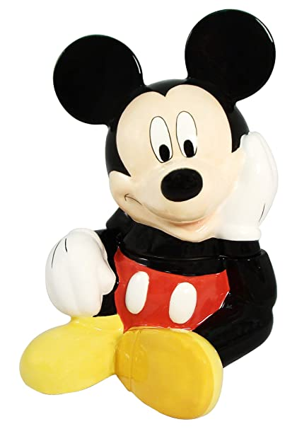 Disney Cookie Jars Amazon Com >> Amazon Com Disney Mickey Mouse Cookie Jar Multicolored Kitchen